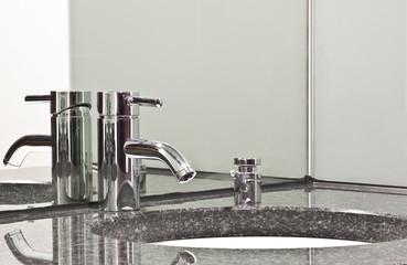 Wasserhanhn mit Spiegelung