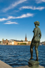 Vue sur Gamla stan à Stockholm