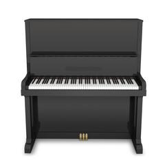 ピアノ正面白バック