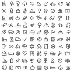 simple icon set