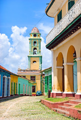 colorful street in Trinidad, Cuba