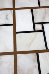 Marble floor with inlay