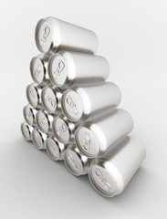 Image sealed aluminum can with a drink