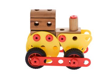 toy locomotive on white