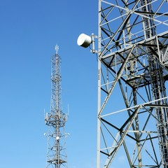 Communication towers with antenna.