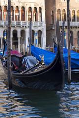 Traditional Venice gondola Italy