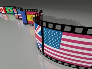 PELLICOLA FILM CON BANDIERA STATI UNITI