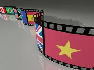 PELLICOLA FILM CON BANDIERA VIETNAM