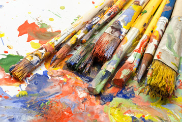 Paintbrushes.