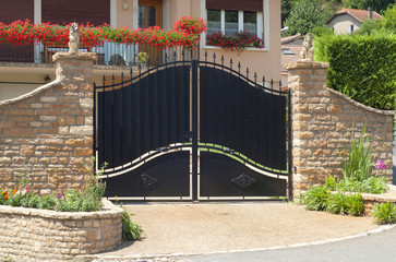 Beautiful gate, entrance to a front yard