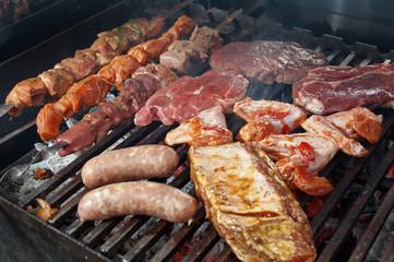 prepared on the barbecue grill.
