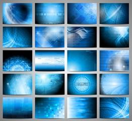 Vector tech backdrops collection