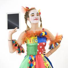 Clown - déguisement - tablette tactile
