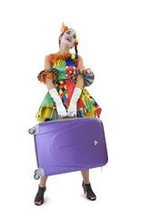 Clown - déguisement - le départ