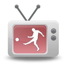 "Cartoon-style TV Icon ""Football / Soccer"""
