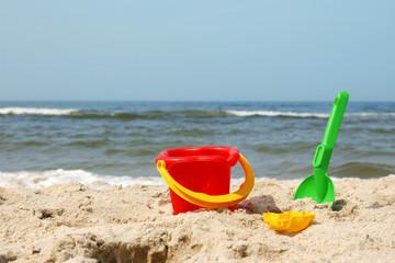 Zabawki na plaży