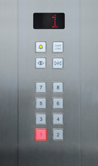 1floor on elevator buttons