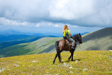 Printed kitchen splashbacks Horseback riding Horseback riding