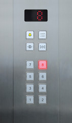 8 floor on elevator buttons