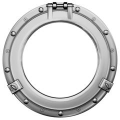 Bullauge (Stahl) mit Beschneidungspfad / porthole