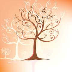 Tree stylized in swirls