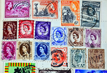 Gold coast postage stamps