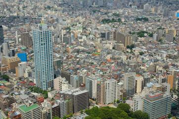 Aerial view of the Tokyo Cityscape at Shinjuku