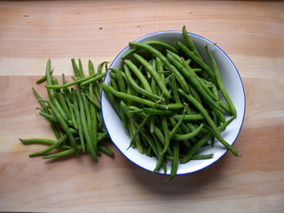grüne Bohnen