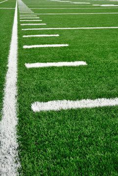 Sideline on American Football Field
