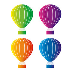 Color hot air balloon