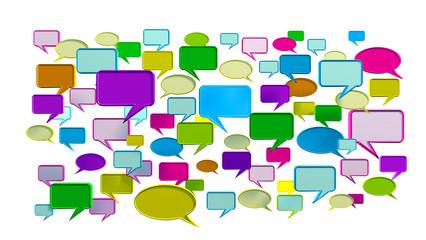 Colorful conversation icons 3D