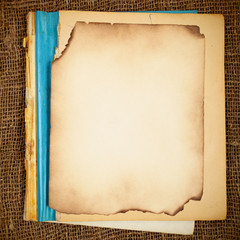 Old blank copy-book