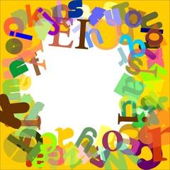 Cornice baby: lettere