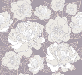 Seamless floral pattern. Background with flowers
