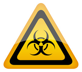 Biohazard vector warning sign