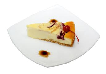 Gourmet slice of cheesecake