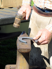 Hammering a Horseshoe