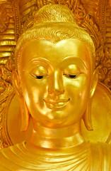 Smiling Buddha image face