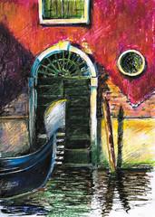 Venice scene-pastel