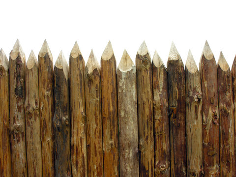 wooden paling