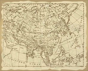 Old ASIA Map