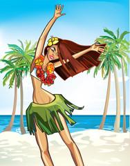 Hawaii happy girl