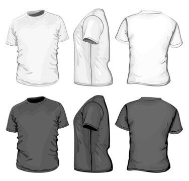 Vector. Men's t-shirt design template. No mesh.