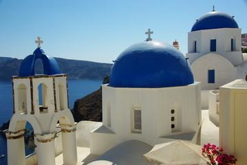 Tuinposter Santorini grece02