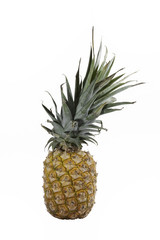 Pineapple isolated on white with a clipping map