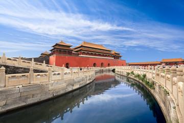 Fotobehang Beijing forbidden city in beijing