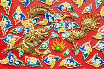 Carving  of chinese style dragon