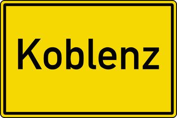 Koblenz Ortstafel Ortseingang Schild Verkehrszeichen