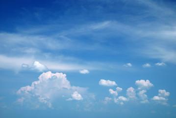 deep blue sky as background