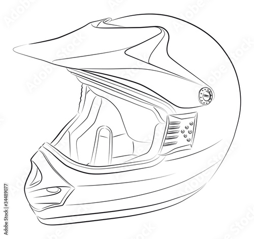 how to draw a dirt bike track